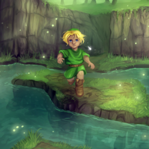 Fan-art piece for the game Ocarina of Time