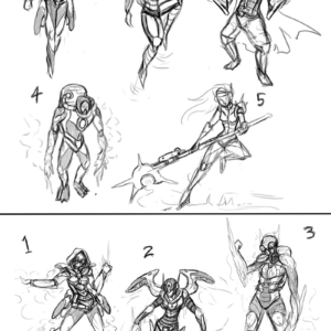 Initial sketches. Elements were voted upon then second set was made based on feedback.