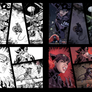 Colors by me, Pencils and Inks by David Yardin (http://davidyardin.deviantart.com/art/HiRes-Catwoman-Injustice-Gods-Among-Us-17-p-6-ink-376205239)