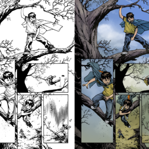 Color by me (not official comic colors), Inks by Zach Howard