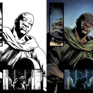 Colors by me (not official comic colors), inks by Tazio Bettin